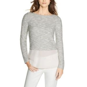 WHBM Layered Chiffon Knit Top Size XS  -C7